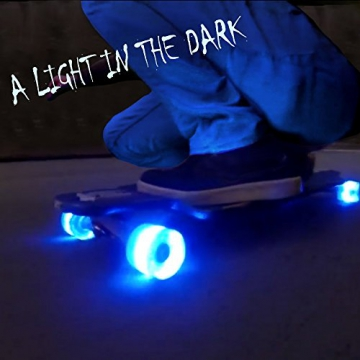 4x LONGBOARD Skateboard LED ROLLEN - RGB - Longboard Cruiser Wheels 60mm -