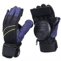 Andux Zone Erwachsene Freeride Grip Slid Skateboard Handschuhe mit Foam Palm HBST-03 (schwarz, XL) -