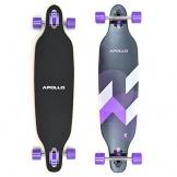 Apollo Longboard Makira Komplettboard mit High Speed ABEC Kugellagern, Drop Through Freeride Skaten Cruiser Board -