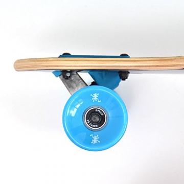 Komplett Longboard von Apollo in Blau Rollen