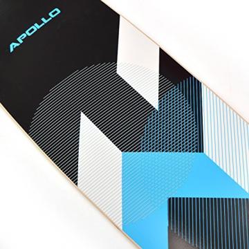 Komplett Longboard von Apollo in Blau Deck