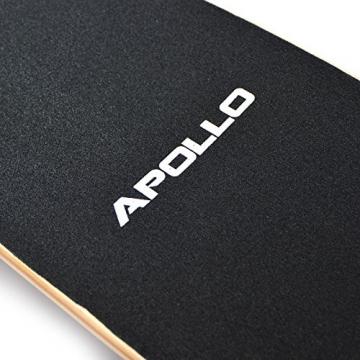 Komplett Longboard von Apollo in Blau Griptape