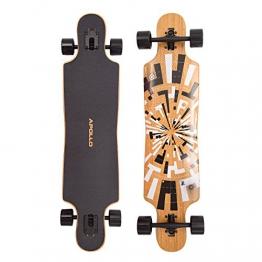 Apollo Twin-Tip Drop-Thru Longboard, Soul Bamboo, Flex 1, 101,8 cm (40inch) x 24 cm (9,5inch) -