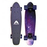 Apollo Wooden Fancy Board, Vintage Cruiser Komplettboard, Größe: 22.5'' (57,15 cm), Farbe: Sternenhimmel / Lila -