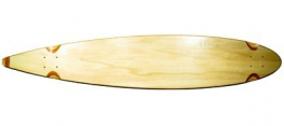 Blank Longboard Deck natural pintail 47.75 x 9 -