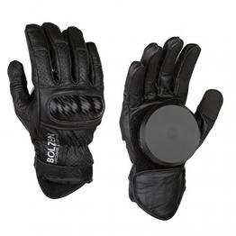 Bolzen Slidegloves V2 Longboard Slide Handschuhe schwarz (S-M) -