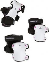 Firefly Proline 2.0 Schützer Set Schoner Inline Skate Protektoren weiß/pink 244914, Größe:XL -