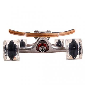 FunTomia® Longboard Skateboard Board Skaten Cruiser Komplettboard mit ABEC-11 High Speed Kugellager T-Tool (Modell Freerider - Farbe Grün/Rot Auge mit LED Rollen) -