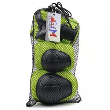 G-i-Mall kinder Protektoren Set - Kind's Knieschützer Ellenbogenschützer Handgelenkschoner Schutzset für Roller Skaten Skateboard Radfahren (Grün) -