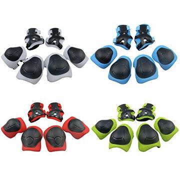 G-i-Mall kinder Protektorenset Roller Skaten Skateboard Radfahren Knieschoner Ellenbogenschützer Handgelenkschoner für Kinder - Blau -