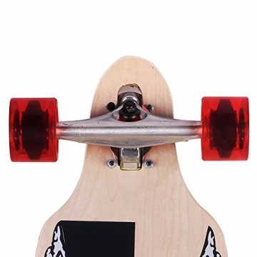 Gemgo WIN.MAX 004 Skateboard longboards Komplettboard mit ABEC-11 Chrom Stahllager -