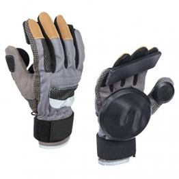 Glield Skateboard Gloves / Erwachsene Freeride Grip Slid Skateboard Handschuhe mit Foam Palm CBST02 (schwarz, L) -