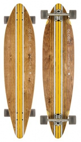 Globe Longboard Pinner Complete, Brown/Yellow, 10525025-BRNYEL-41 -