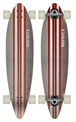 Globe Longboard Pinner Complete, White/Red, 10525025-WHTRED-41 -