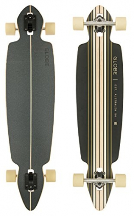 Globe Longboard Pinner Drop Through, Black/Gold, 10525225-BLKGLD-41 -