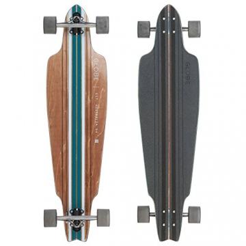 Globe Longboard | Prowler Brown/Blue Bamboo Komplettboard | Größe: 95,5 cm x 25,4 cm | Farbe: braun/blau -