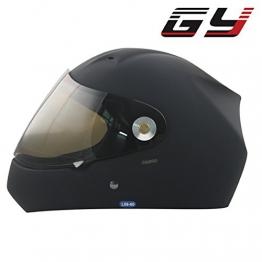 GY RENNFAHRER volles Gesicht Professioneller Longboard-Helm Abhang-Helm Extremsport-Kopfschutzhelm schwarz (schwarz, S/M) -