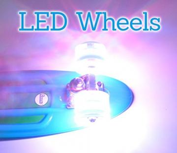 Hellmet LED Bangerz - LED Longboard Rollen - LED Longboard Wheels - NEU - Neon Grün -