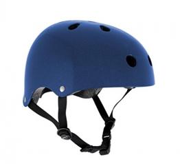 Helm für Skater,Scooter,Biker (Blau metallic, S - M / 53 - 56 cm) -