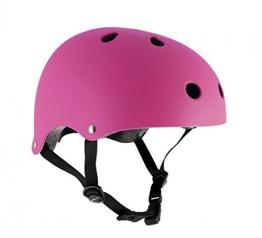 Helm für Skater,Scooter,Biker (Fluo Pink, S - M / 53 - 56 cm) -
