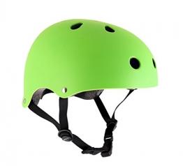 Helm für Skater,Scooter,Biker (Grün matt, S - M / 53 - 56 cm) -