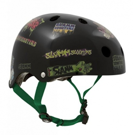 Helm für Skater,Scooter,Biker (Helm - Black Sticker, L - XL / 57 - 59 cm) -