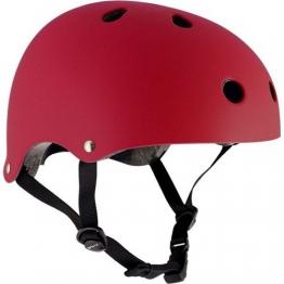Helm für Skater,Scooter,Biker (Rot matt, S - M / 53 - 56 cm) -