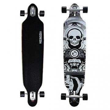 Komplett Longboard von Hengda®-Totenkopf oben und unten