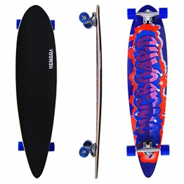 "HJ® 44"" Skateboard Board Top mount Retro Streetsurfer Longboard Freeride ABEC 7 -"