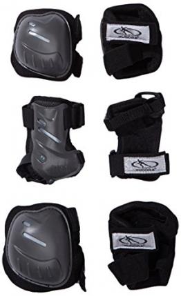 HUDORA Biomechanisches Protektorenset, schwarz/grau, Gr. S, 83029 -