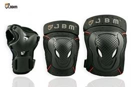 JBM BMX Bike Knieschoner Ellenbogenschoner Handgelenkschoner Set fr schutzausrstungen Biking, Reiten, Radfahren und Multi Sports Scooter, Skateboard, Fahrrad, Rollerblades schwarz -