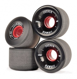 JUCKER HAWAII Longboard Rollen / Wheels STREETBALLS - FOAM BALLS Black -