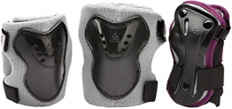 K2 Kinder Pad Set Charm Pro Jr, silber/schwarz/dunkelrot, S, 3041700.1.1 -