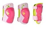 Kinder Inliner Inlineskates Schützer Protektoren SET Arm Bein und Ellenbogenschützer verschiedene Farben und Größen (Rosa Pink, bis 25KG xxs) -