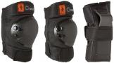 Kinder Inliner Inlineskates Schützer Protektoren SET SCHWARZ 6 tlg. Arm,-Bein- und Ellenbogenschützer Gr. XS von 25KG bis 50KG -