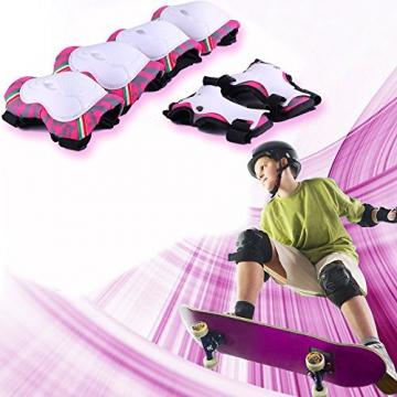 Kinds Knieschoner Ellenbogensch/ützer Handgelenkschoner f/ür Roller Skaten Skateboard Radfahren G-i-Mall kinder Protektoren Schutzset Rosa