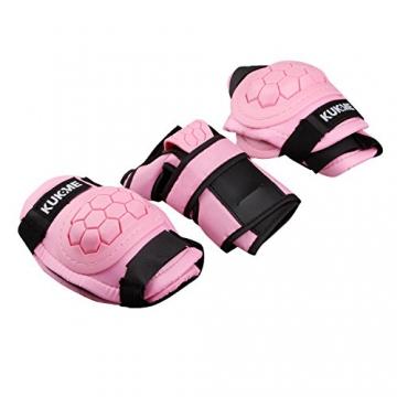 Kinder Protektoren sets Knieschoner Ellenbogenschützer Handgelenkschoner (Rosa, S) -