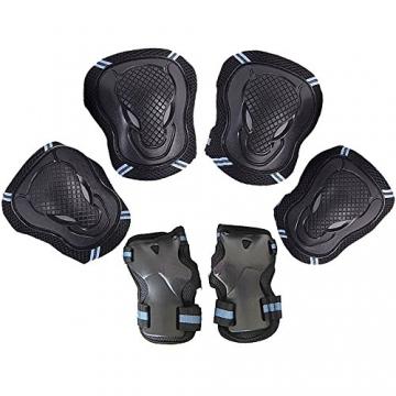 Kinder Protektorenset - Kind Junior Knieschoner Ellenbogenschützer Handgelenkschoner Schutzset für Teenager Erwachsene BMX Skateboard Inline Roller Skate Outdoor Sport Pad Set (Größe M) -