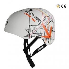 Koston Skateboard / Scooter / Inliner / Rollschuh Schutz Helm - Weiß New Design - Bmx, Inliner, Longboard Helm - Schutzausrüstung Skateboard Helm, Grösse:L -
