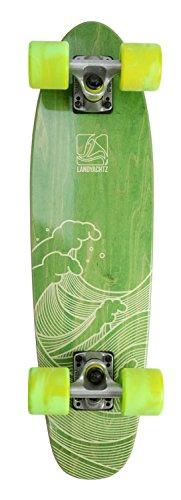 """Landyachtz 2016 Mini Dinghy 26"""" Waves Green Komplett Longboard -"""