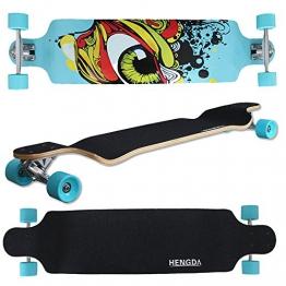"""LD Weihnachten Deko 41"""" Longboard Drop Through Long Board Skateboard Streetsurfer 104cm ABEC 9 -"""