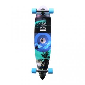 Long Island Palm Komplett Longboard - blue -