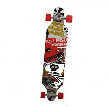 Longboard 41 LED DROP RACE ABEC 11 Rot LED Skateboard -