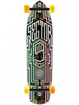 "Longboard Complete Sector 9 Carbon Flight 36"" x 9.25"" Rasta Complete -"