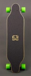Longboard Madrid - Paint Stripes - Top Longboard Komplettboard - Modell 2013 -