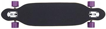 Longboard Racing Board 96 cm lang Flower Power / Dschungel bunt ABEC-7 Kugellager -