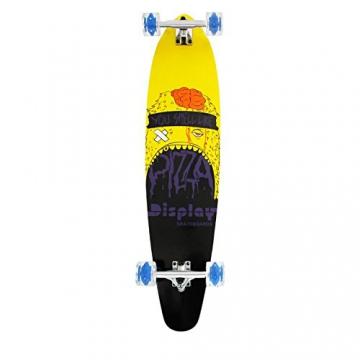 Longboard Skateboard mit LED Rollen 41