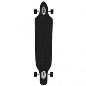 Longboard von [pro.tec] (104 x 23 x 9.5 cm) - ABEC 7-Kugellager - Skateboard / Dropped Through/ Freeride Board / Cruising Board / Retro Board - Farbe: grau - schwarz - gelb -