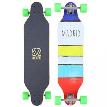 """Madrid Longboard Weezer Paint Stripes 36"""" (91,4cm), Topmount Basic Board Komplettboard Freeride Cruiser -"""