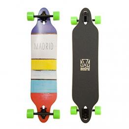 """Madrid Twin-Tip Drop-Thru Longboard, Tombstone Paint Stripes 38.375"""" (97,47 cm), DT Komplettboard -"""